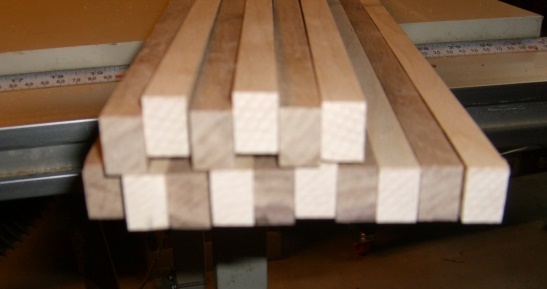 Glued-up pattern - end view